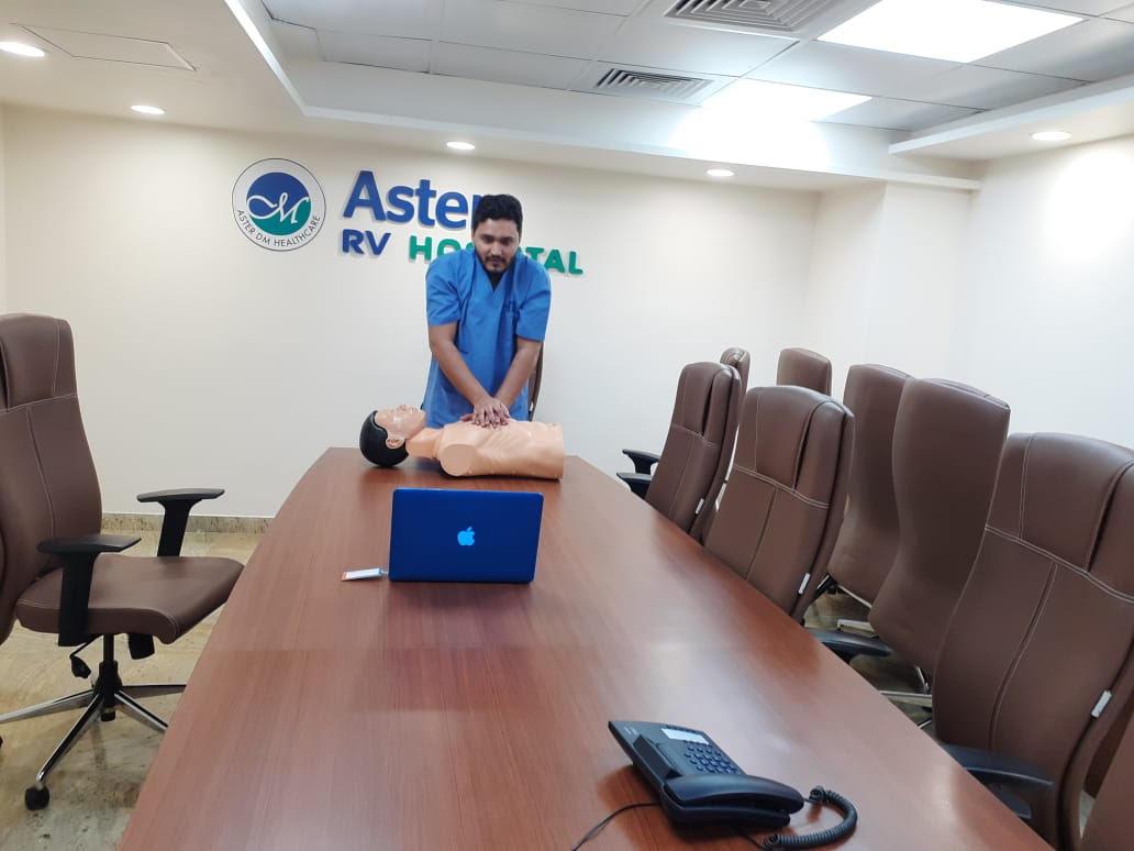 Aster RV Hospital imparts Basic Life Support skills virtually