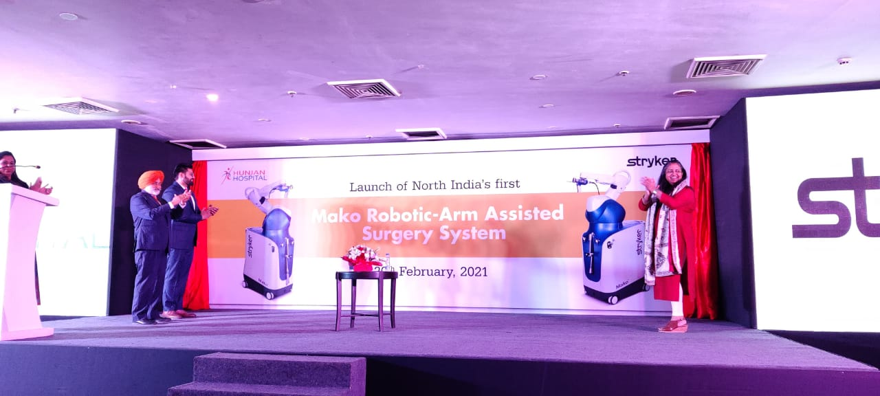 Hunjan Hospital launches Mako Robotic Arm-Assisted Technology for knee replacement in Ludhiana