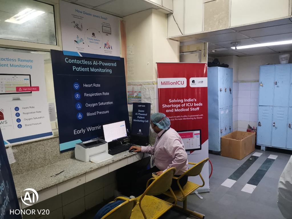 Lok Nayak Hospital (LNH) Adds 100 AI-Powered, Contactless Dozee Patient Monitors to Covid ICU Under Dozee's MillionICU Initiative